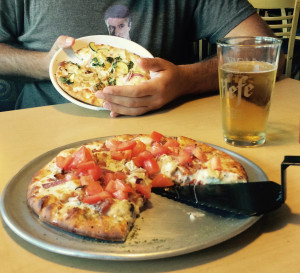 strawhat pizza closeup